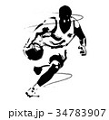 バスケットボール スポーツ バスケのイラスト 34783907