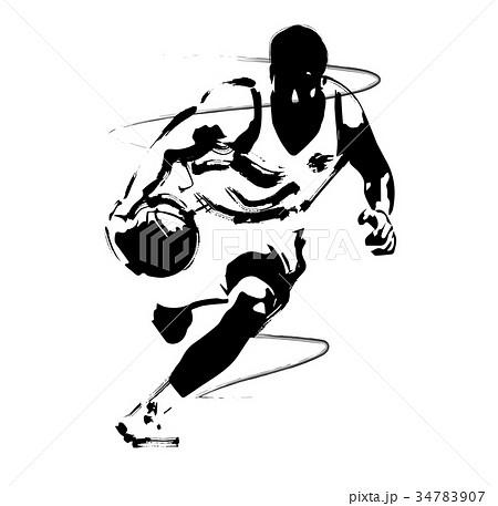 バスケットボールのイラスト素材 [34783907] , PIXTA