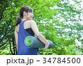 ヨガ ピラティス 女性の写真 34784500