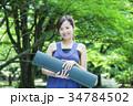 ヨガ ピラティス 女性の写真 34784502