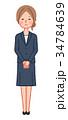 女性 人物 スーツのイラスト 34784639