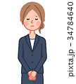 女性 人物 スーツのイラスト 34784640