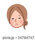 女性 顔 悩むのイラスト 34784747