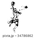 バスケットボール スポーツ バスケのイラスト 34786862