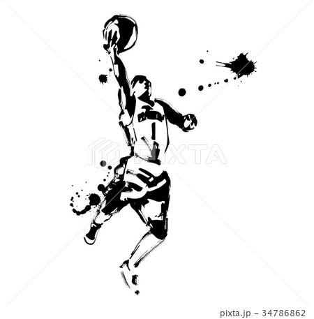 バスケットボールのイラスト素材 [34786862] , PIXTA