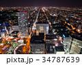 北海道札幌市 街並み夜景 (JRタワー展望室から) 2017年10月撮影 34787639