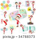 お母さん クリスマス サンタのイラスト 34788373