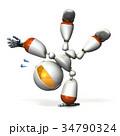 側転するキュートなロボット 34790324