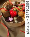 チョコレート バレンタインデーイメージ リボンの写真 34791396