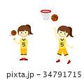 バスケットボール 女の子 34791715