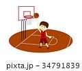 バスケットボール 男の子 シュート 34791839