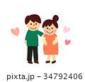 妊娠 妊婦 夫婦のイラスト 34792406