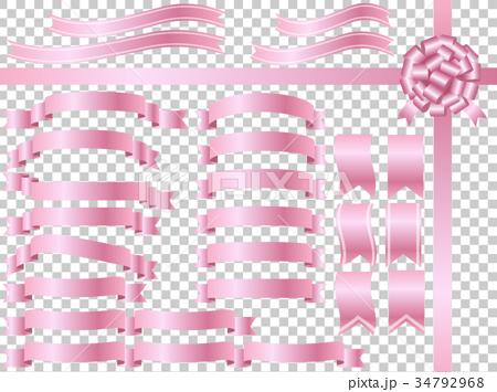リボン素材セット ピンク 34792968