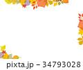 紅葉 秋の葉 背景素材 34793028