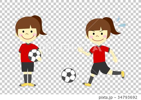 サッカー 女の子 34793692