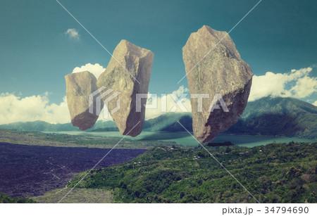 floating rocks 34794690