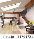 modern kitchen interior 34794721