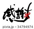 感謝 筆文字 文字のイラスト 34794974