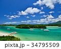 石垣島 川平湾 海の写真 34795509