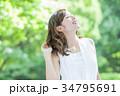 ビューティー 女性 美容 スキンケア ポートレート 新緑 34795691