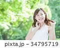 ビューティー 女性 美容 スキンケア ポートレート 新緑 34795719