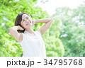 ビューティー 女性 美容 スキンケア ポートレート 新緑 34795768
