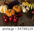 秋 収穫 食材の写真 34798120