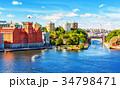 Summer panorama of Stockholm, Sweden 34798471