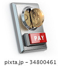 Paying concept. Coin with dollar sign and acceptor 34800461