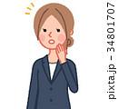 女性 スーツ ビジネスウーマンのイラスト 34801707