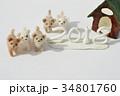 フェルトの子犬と犬小屋 34801760