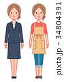 女性 人物 スーツのイラスト 34804391