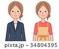 女性 人物 スーツのイラスト 34804395
