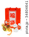 戌年 犬 年賀素材の写真 34804641