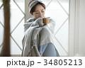 女性 寒い 冷え性の写真 34805213