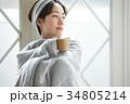 女性 寒い 冷え性の写真 34805214