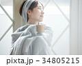 女性 寒い 冷え性の写真 34805215