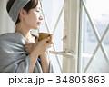 女性 寒い 冷え性の写真 34805863