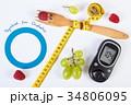 diabetes グルコメータ メーターの写真 34806095