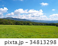 青空と山と草原 34813298