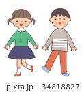 人物 子供 女の子のイラスト 34818827