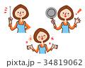 人物 女性 主婦のイラスト 34819062