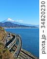 富士山 海 駿河湾の写真 34820230