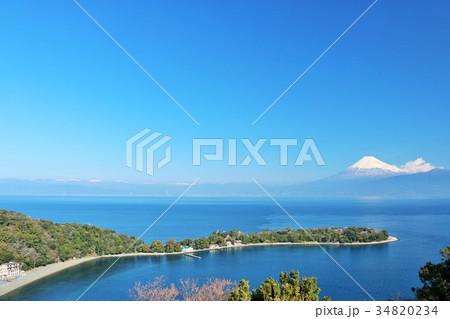 静岡県 大瀬崎からの富士山風景 34820234