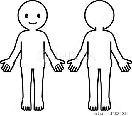 シンプルな人体のデフォルメイラスト 34822032