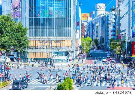 東京 渋谷 スクランブル交差点 34824978