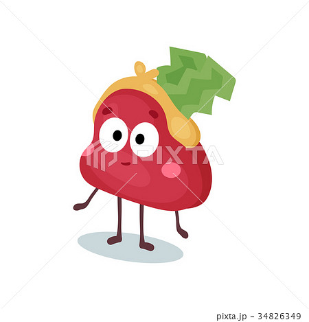 Funny confused purse humanized character, money 34826349