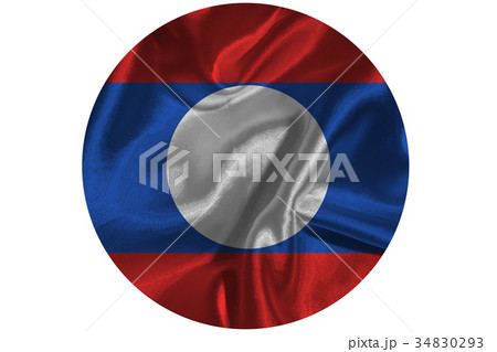 Laos national flag 3D illustration symbol 34830293