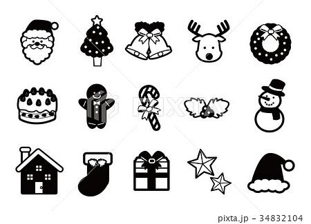 クリスマスのイメージアイコンイラスト 34832104