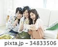 女性 女子会 笑顔の写真 34833506